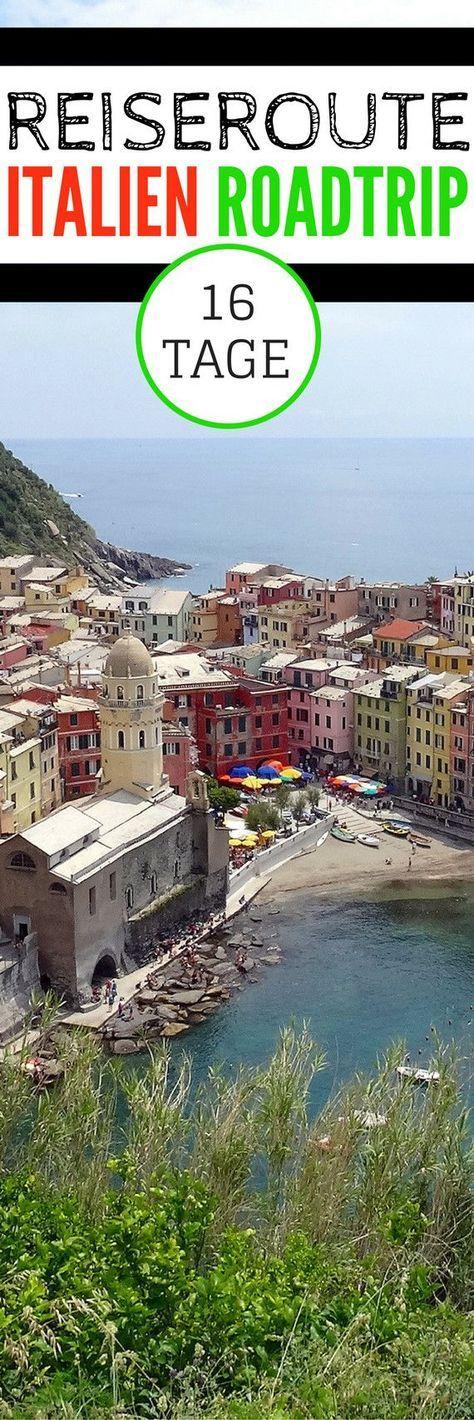 Reiseroute – 16 Tage mit dem Auto durch Italien