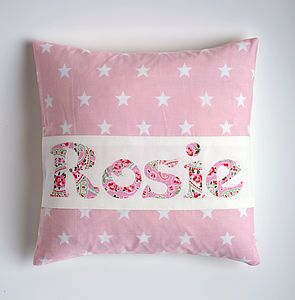 My name! Personalised Star Cushion