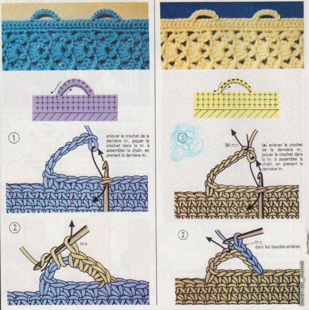 Как сделать навесные петли в вязании крючком. Обсуждение на LiveInternet - Российский Сервис Онлайн-Дневников