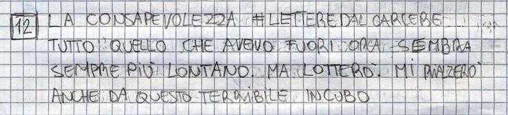 #LETTEREDALCARCERE #PAKKIANO N. 12 - LA CONSAPEVOLEZZA Lettera scritta dalla cella numero 22 del Penitenziario Santa Bona di Treviso