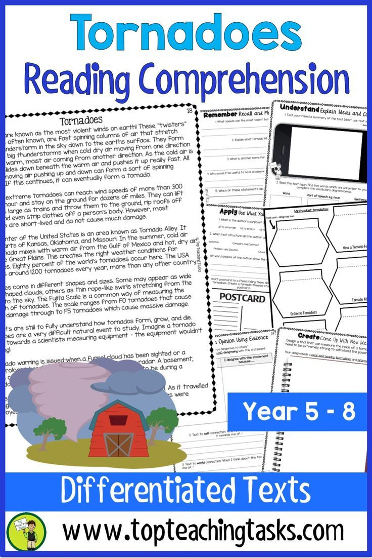 Tornadoes Reading Comprehension Passages And Questions Your Upper Primary Students Reading Comprehension Reading Comprehension Passages Comprehension Passage [ 1102 x 736 Pixel ]