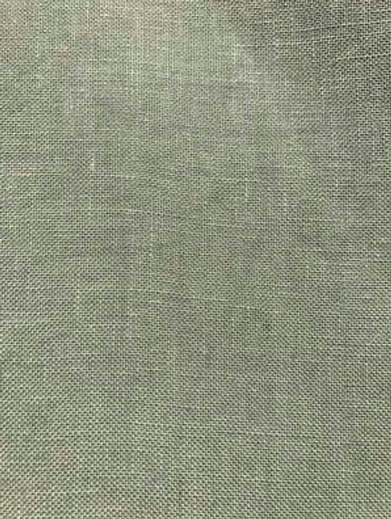 NEW! SALT MaRSH GREEN 40 ct  hand-dyed cross stitch linen fabric by