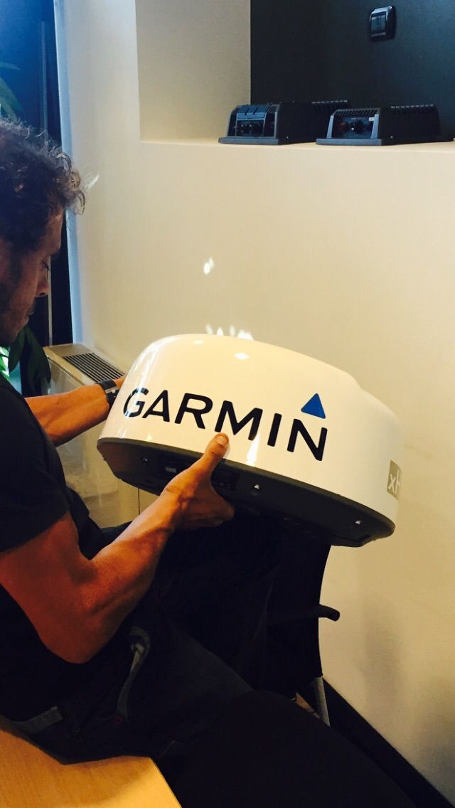 Gaetano con la tecnologia Garmin Marine Italia