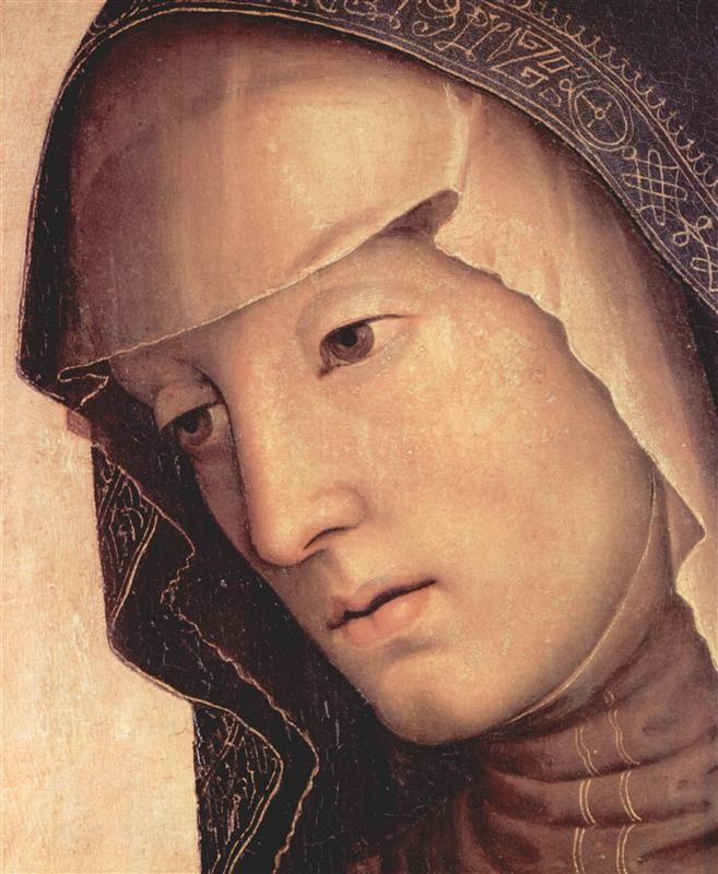 Pieta. Maria (detail), 1494-1495 - Pietro Perugino