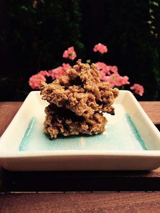 Rachelle et Coco | Biscuits déjeuner beurre d'amandes 4 ingrédients