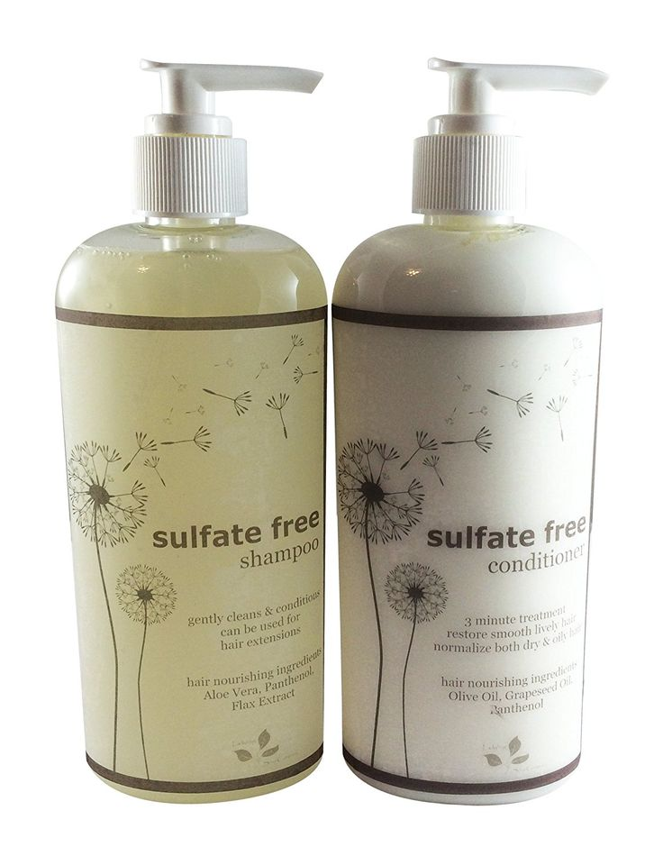 Sulfate Free Shampoo 8 oz   Sulfate free Conditioner 8 oz Combo - Scented with Essential Oil - no synthetic fragrance, no synethic dye * See this great product. (Amazon affiliate link)