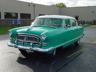 Make: Nash  Model: Statesman  Year: 1954  Mileage: 65000  Condition: Restored  Location: Racine, Wisconsin  Engine Type: 6 Cylinder  Transmission Type: Manual