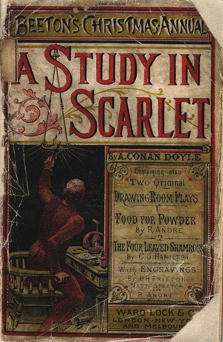 First Sherlock Holmes printing of A Study in Scarlet, it is a detective mystery novel. This Is another novel that keeps me on my toes. This book became very popular later on.