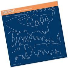 CLARITY STAMP GROOVI Parchment Embossing Plate LANDSCAPES & SKYLINES GRO-LA40669