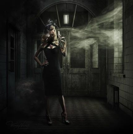 Foto: Photographer : Thierry Neven Retouching : Thierry Neven Ttle: The Huntress of Shadows • © Thierry Neven Digital ARt Painting http://www.facebook.com/HypnoticStudio1/ http://www.hypnotic.be
