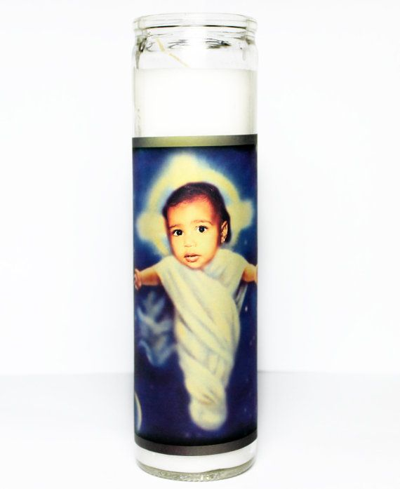 ✻Saint Baby North West Prayer Candle✻  Pray to sweet baby North.  **ALL DOMESTIC [U.S.] ORDERS SHIPPED PRIORITY MAIL**
