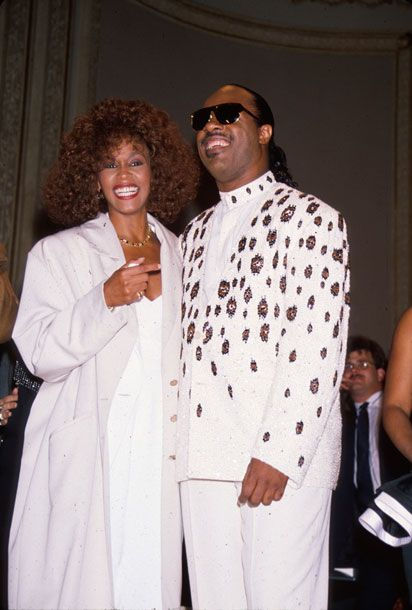 Whitney Houston and Stevie Wonder, 1990. Time & Life Pictures photo