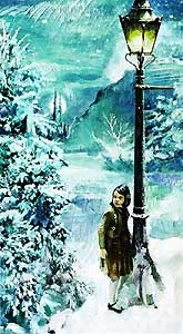 The Lion, the Witch and the Wardrobe - Lucy and the Lamppost - Jim Salvati - World-Wide-Art.com - $425.00 #JimSalvati