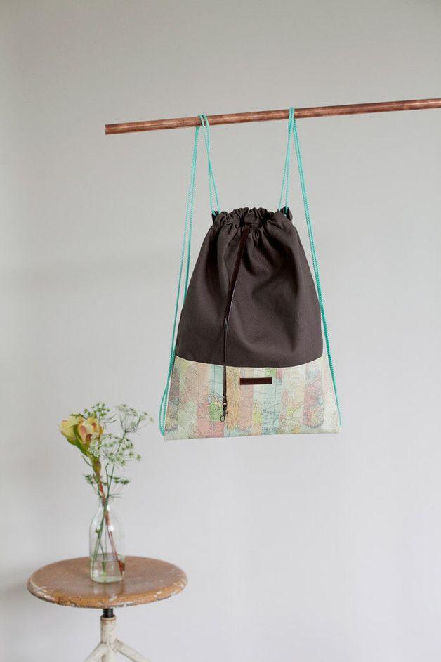 Der perfekte Turnbeutel für eine Wanderung / gym bag for travelers made by…