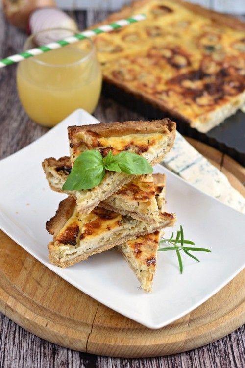 Karamellizált hagymás quiche recept
