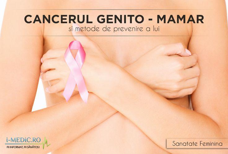 Cancerul genito-mamar reprezinta cea mai frecventa forma de cancer care afecteaza femeile. Doar in Romania, sunt depistate anual peste 6.000 de cazuri noi. http://www.i-medic.ro/sanatate-feminina/cancerul-la-femeie/cancerul-de-san/cancerul-genito-mamar-si-metode-de-prevenire-a