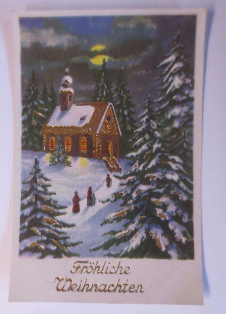 """""""Weihnachten, Kirche, Wald, Mond"""" 1940  ♥ (61981)"""