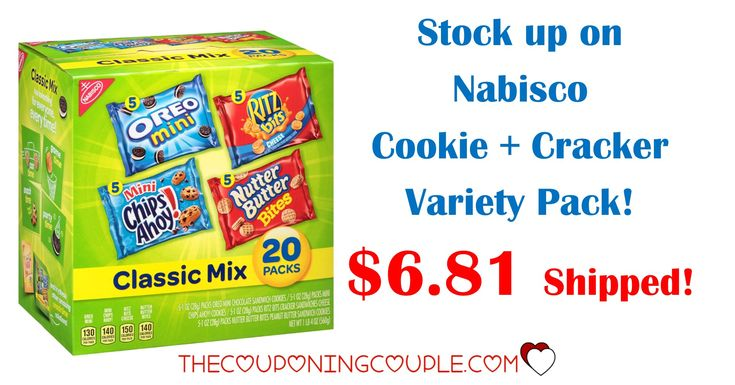 HOT BUY! Stock the pantry with a Nabisco Cookies and Crackers Variety Pack! Get a 20 bag box for only $6.81 shipped!  Click the link below to get all of the details ► http://www.thecouponingcouple.com/nabisco-cookies-crackers-variety-pack/ #Coupons #Couponing #CouponCommunity  Visit us at http://www.thecouponingcouple.com for more great posts!