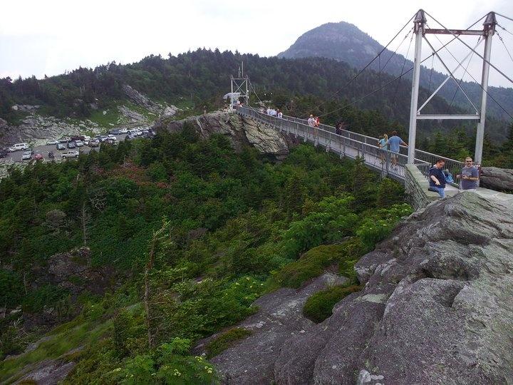Swinging Bridge at the top of Grandfather Mountain