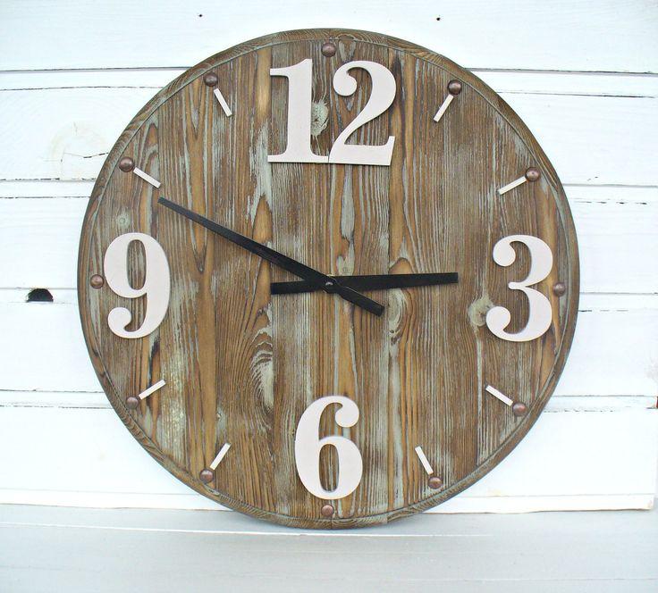 Rustic Wall Clock 16 Inch Home Decor Wall Clocks  Handmade by DecoLavka on Etsy
