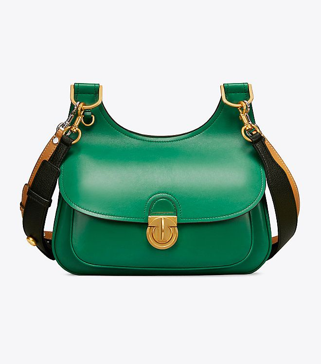 358724df97f1 Visit Tory Burch to shop for James Saddlebag and more Womens Cross-Body Bags.  Find designer shoes