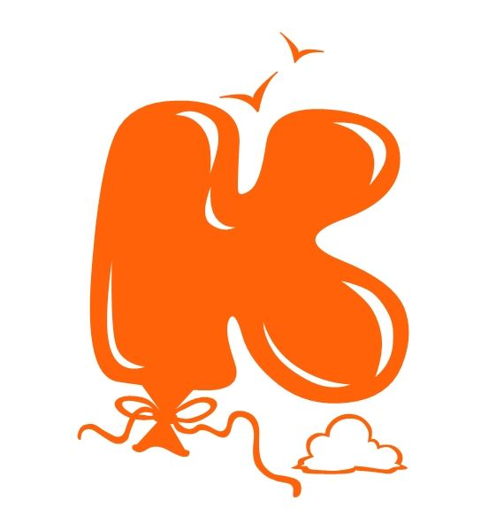 "Graffiti Walls: Graffiti Bubble Letters ""K"" Balloon Design"