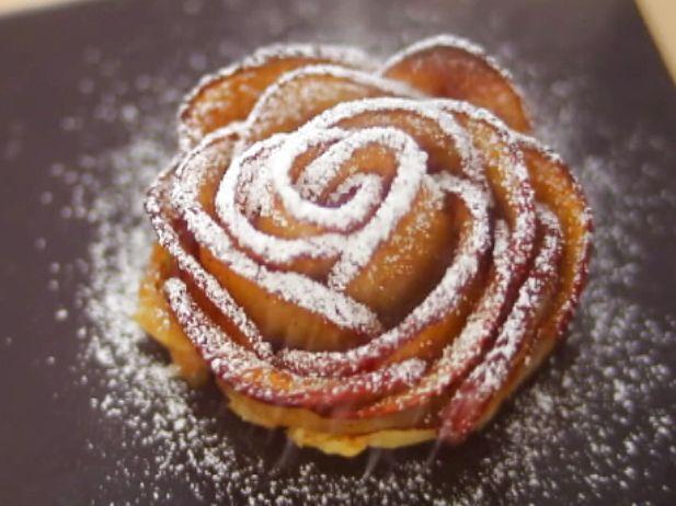Rezept mit Video: Apfelrose-Küchlein