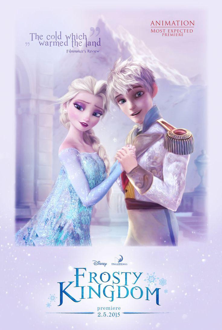 Elsa and Jack Frost in Frosty Kingdom by cylonka.deviantart.com on @deviantART