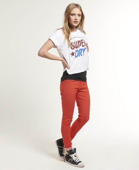 Womens - Ankle Grazer Jeans in Coral | Superdry