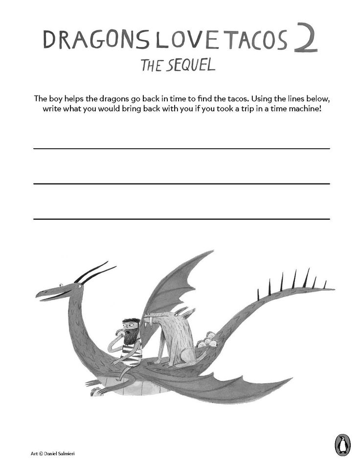 Celebrate the highly anticipated sequel to the beloved Dragons Love Tacos with these fun activities!