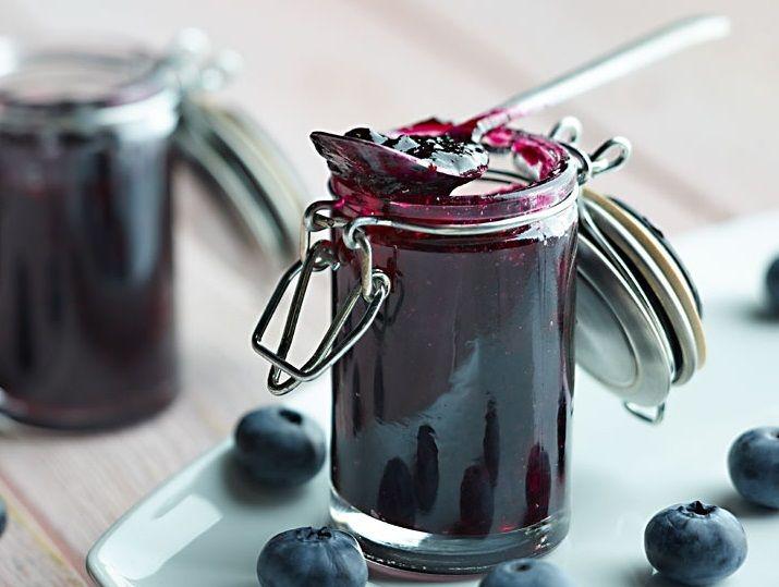 Konfitury borówkowe z czerwonym winem #lidl #przetwory #borówki