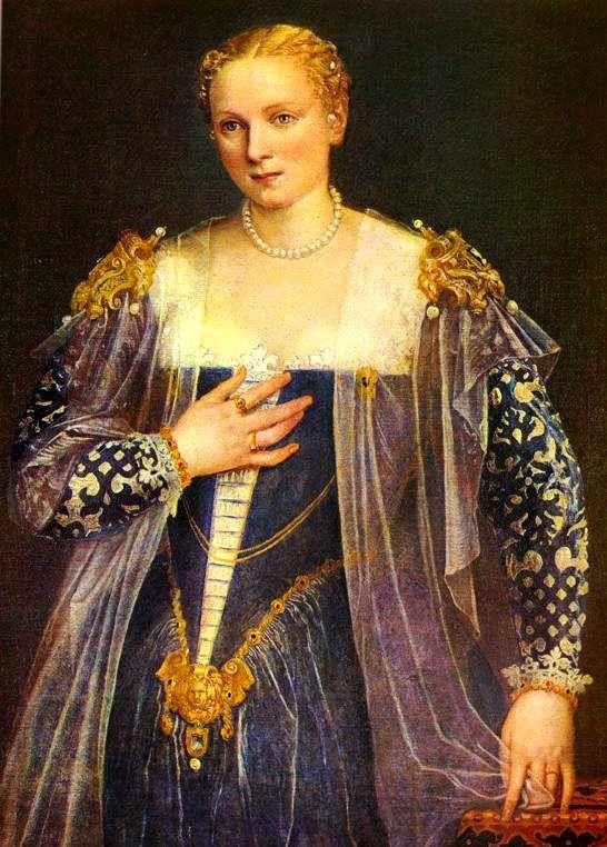 """Venice, Republic of Venice  Paolo Caliari (Veronese), 1560s: Portrait of a Woman known as """"Countess Nani"""" or """"La Bella Nani""""  Paris, Musee du Louvre"""