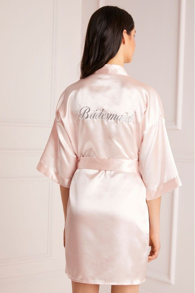 catch fashion design agreatvarietyofmodels Womens Lipsy Satin Bridesmaid Robe - Pink | Products in 2019 ...