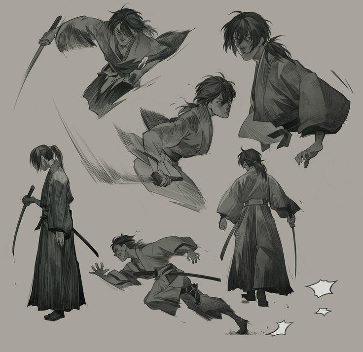 Rurouni Kenshin, Aric Athesis on ArtStation at https://www.artstation.com/artwork/Rzzyy