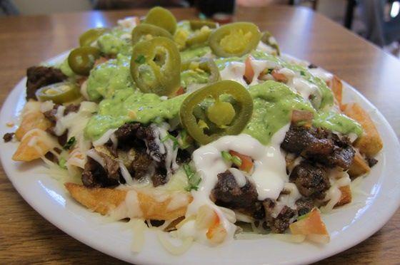 Carne asada fries at Pepe's Tacos