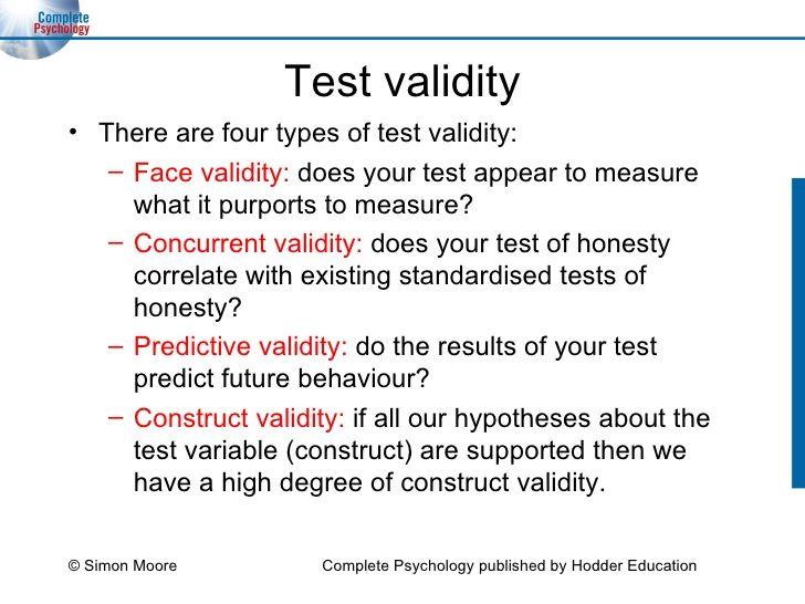 Validity psychology