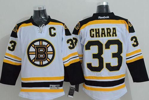 "$34.88 at ""MaryJersey"" (maryjerseyelway@gmail.com) Bruins 33 Zdeno Chara White Stitched NHL Jersey- from MaryJersey"