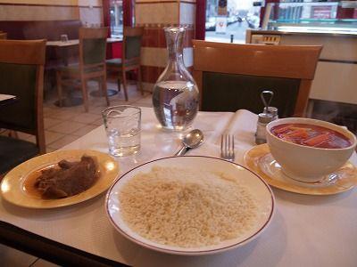 パリのクスクス料理(アルジェリア料理レストラン)