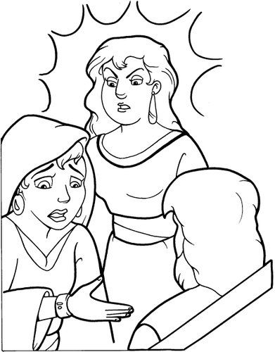 Solomon Two Women And A Baby Bible Coloring Page