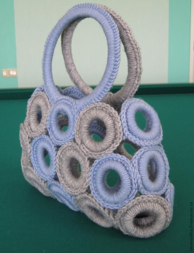 Сумочка из колец для штор - Ярмарка Мастеров - ручная работа, handmade