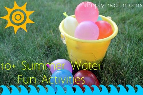 Water fun activities! Some great ideas here-Love the idea of water balloon baseball and water limbo!