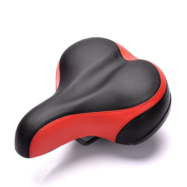 Cycling Bicycle Saddle Wide Thicken Seat Cushion Soft Silicone MTB Road Bike Saddle with Reflective Stickers cheap saddles