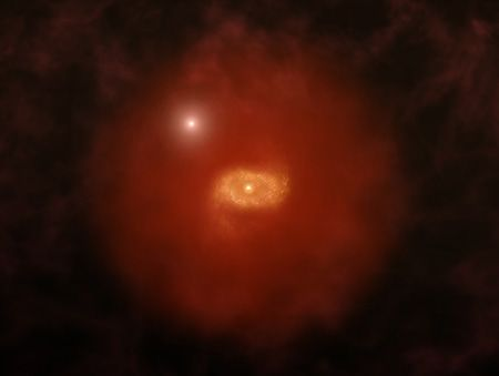 Astronomers observe early stages of Milky Way-like galaxies in distant universe  New observations reveal massive, dusty galaxies with high rates of star formation and large, extended layers of gas