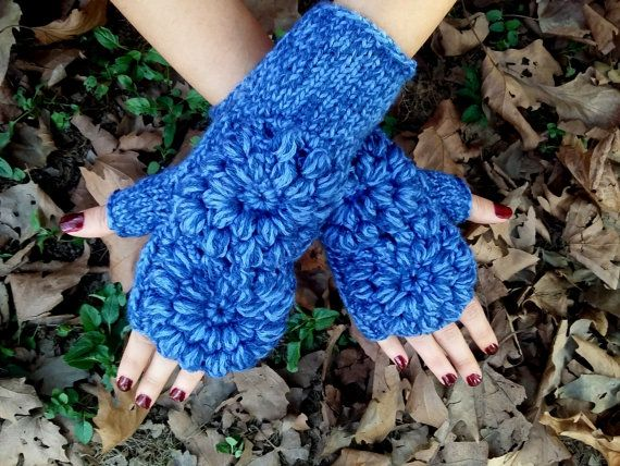 Hand Knitted Gloves, Crochet Fingerless, Knitted Arm Warmer, Blue Knitted Gloves, Women Knitted Gloves, Winter Knit Gloves, Crochet Gloves     100% 1st class. Quality Blue ropes are used. These fingerless. Soft, comfortable glove. Elegant was built. Style Gloves. Over the flowers were committed. Learn to keep warm in winter. Relatives my brother, my friend. gift may be an alternative.  For best results, wash your hands cool and dry flat. Dry or iron, no bleach tumble.  Deliveries will then…