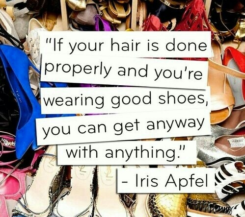 Iris Apfel...one of my favorite people on the planet!