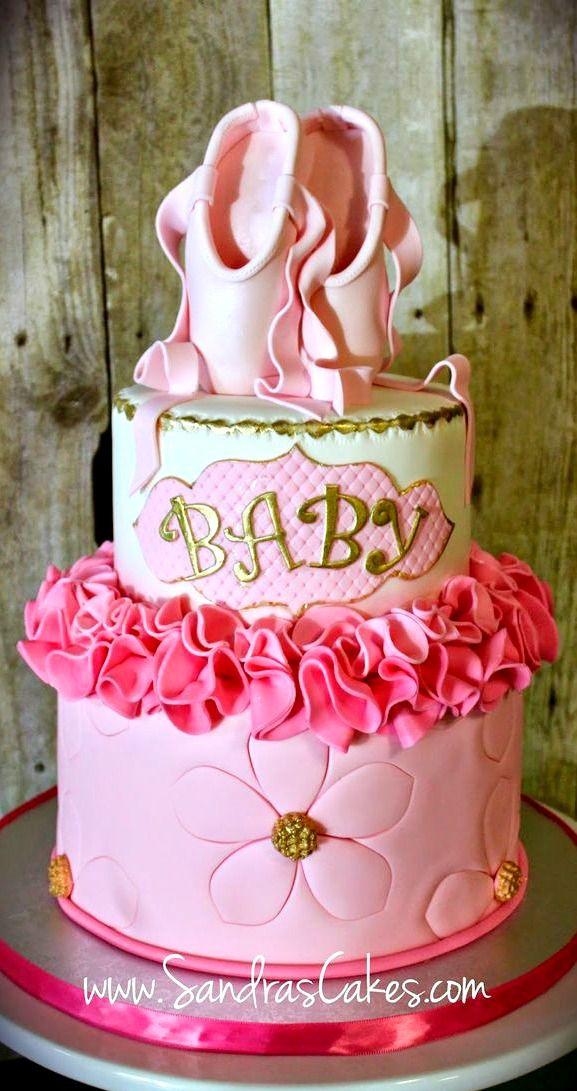 Ballerina Themed Baby Shower Cake
