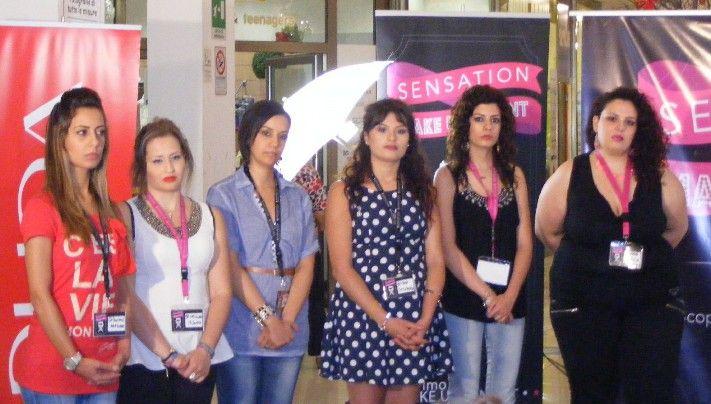 Le candidate: da sinistra Guidace Graziana, Corigliano Valentina, D'Aguì Maria, Evoli Stefania, Pelle Nicoletta e Norcia Anna