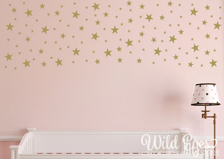 Epic Gold Stars Wall Decals Confetti Decals Star Stickers Set of Geometric wall