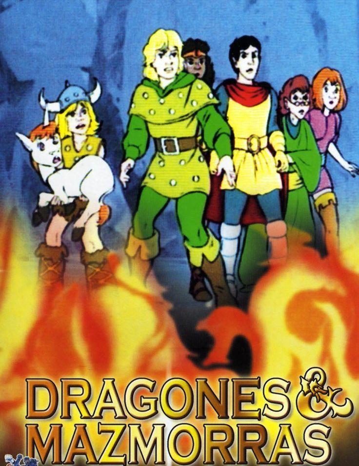 DRAGONES Y MAZMORRAS. Serie de TV (1983-1985). 3 temporadas. 28 episodios. Dungeons & Dragons (conocida en Hispanoamérica como Calabozos y dragones y en España como Dragones y mazmorras) es una serie de televisión de dibujos animados coproducida entre Marvel Comics y TSR, Inc. y emitida por primera vez por CBS en Estados Unidos en 1983.