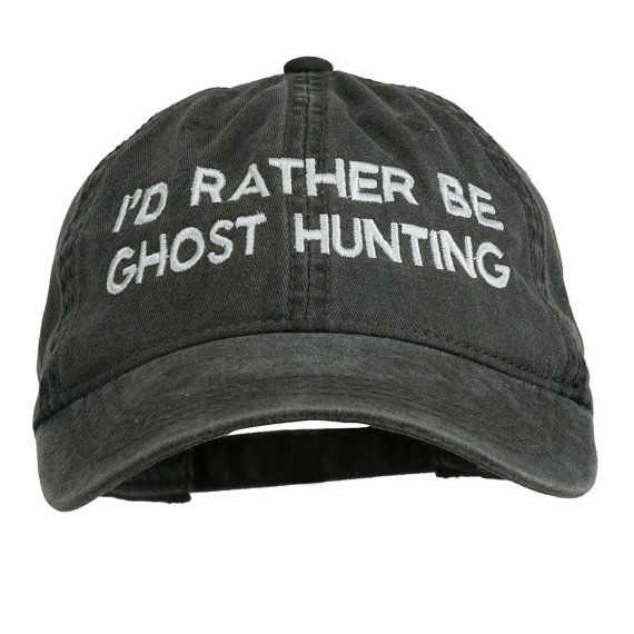 "thebohoboutique: ""  I'd Rather Be Ghost Hunting Embroidered Washed Cap // e4Hats """